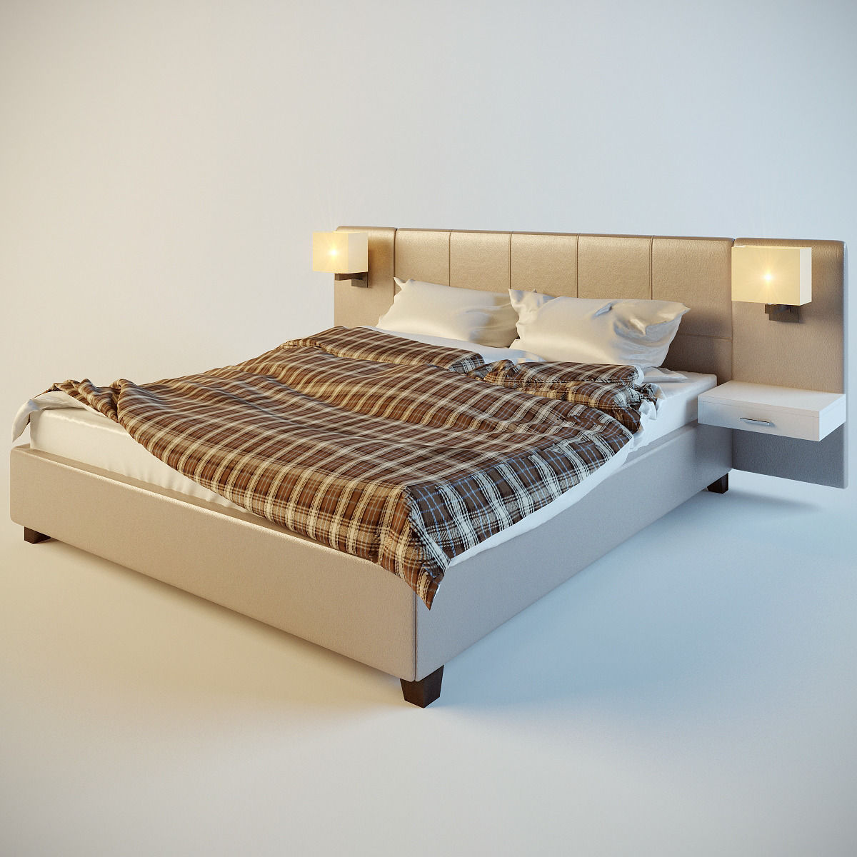 Bed for bedroom 3D Model 3DS - CGTrader.com on New Model Bedroom  id=25539