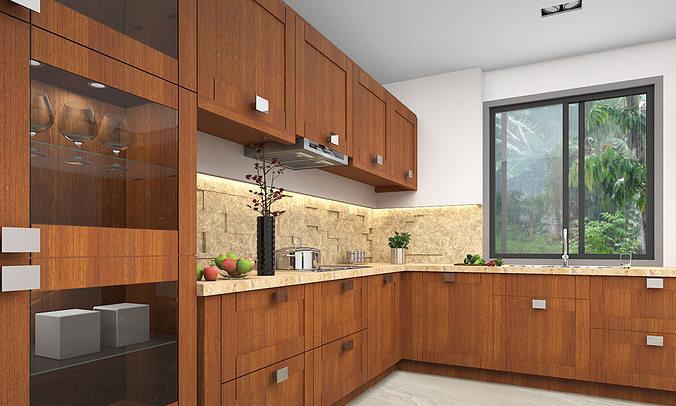 Modern Kitchen 3D 3d | CGTrader on Modern:8-Rtxafges8= Model Kitchen  id=15710