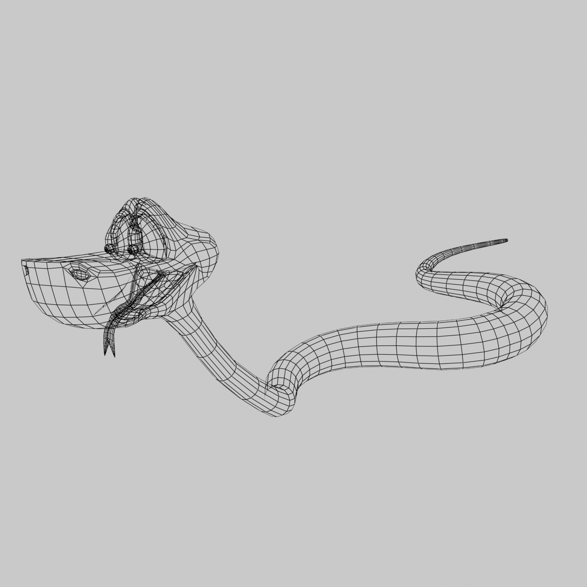 Cartoon Snake Rigged 3d Model Game Ready Animated Rigged