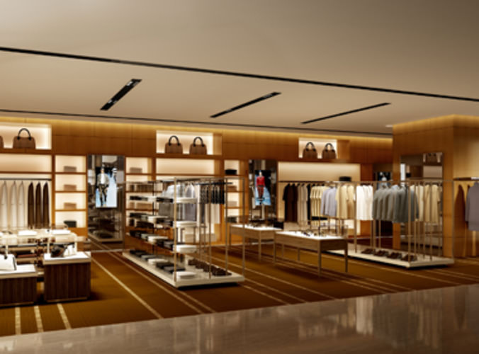 3D Clothing Store Shop CGTrader