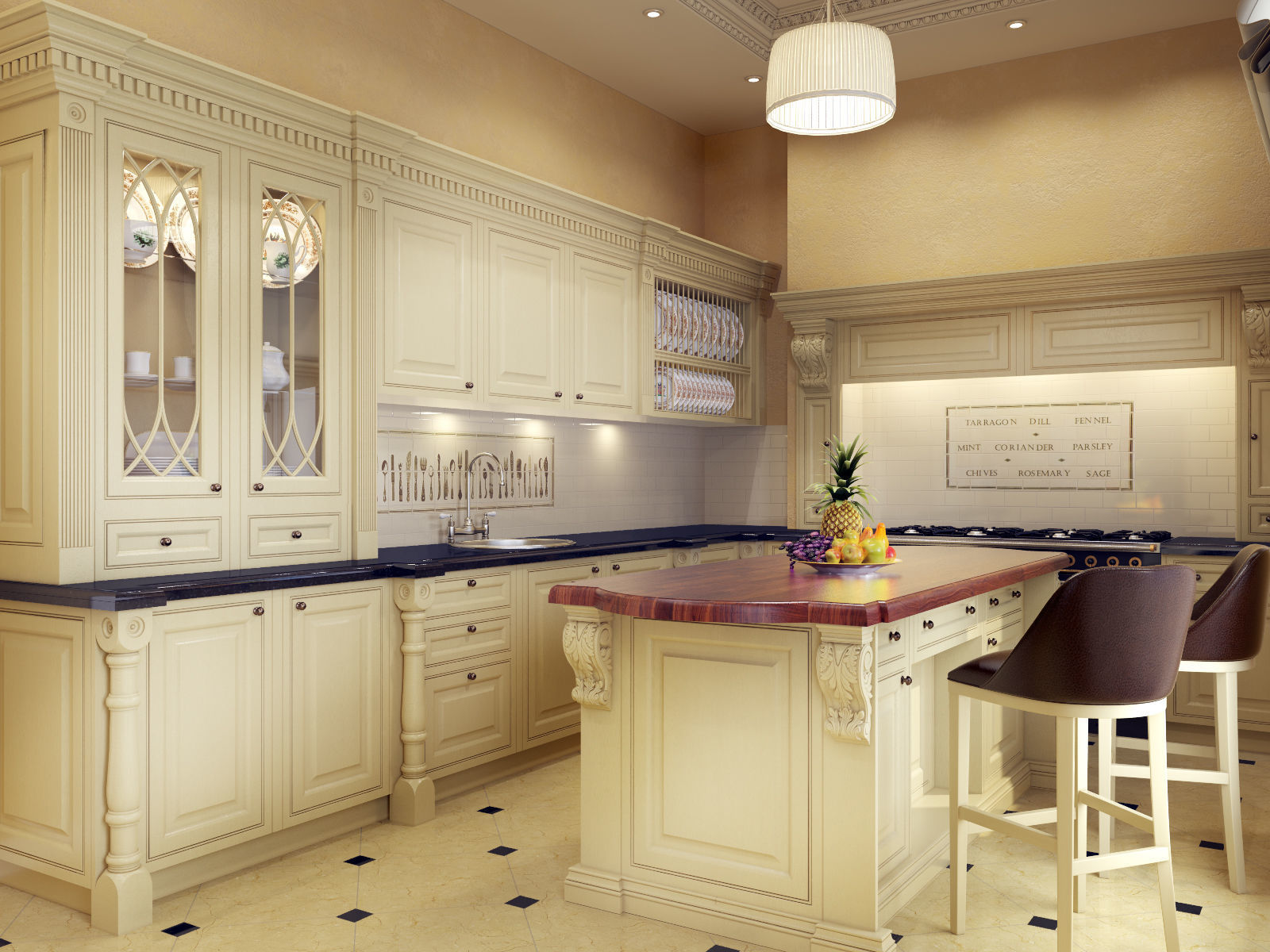 Classic Kitchen Scene 3D | CGTrader on Modern:ln_Sacsp1Ua= Kitchen Model  id=80824
