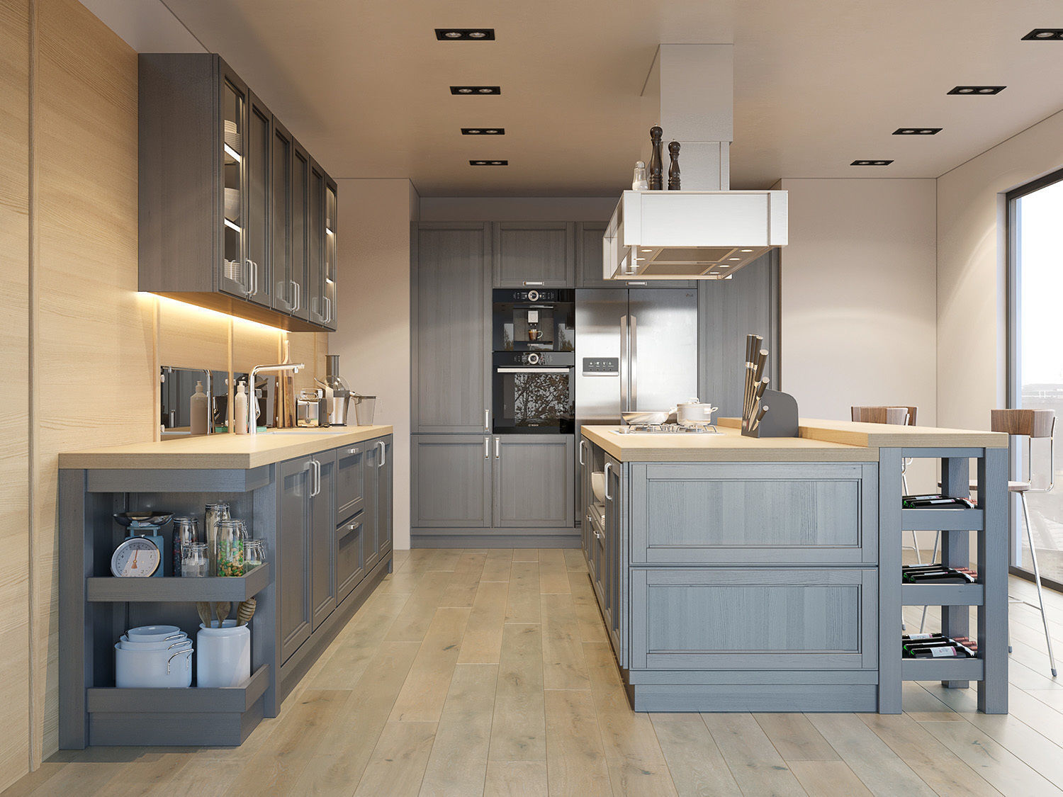 3D Kitchen Fortwood factory ZOV with decor | CGTrader on Model Kitchens  id=54014