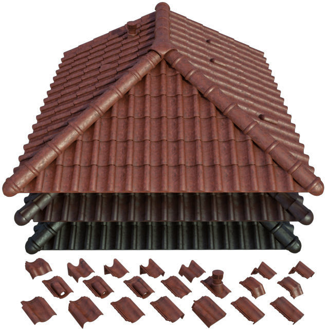 3D model Roof and Ceramic tiles   CGTrader on Tile Models  id=48837