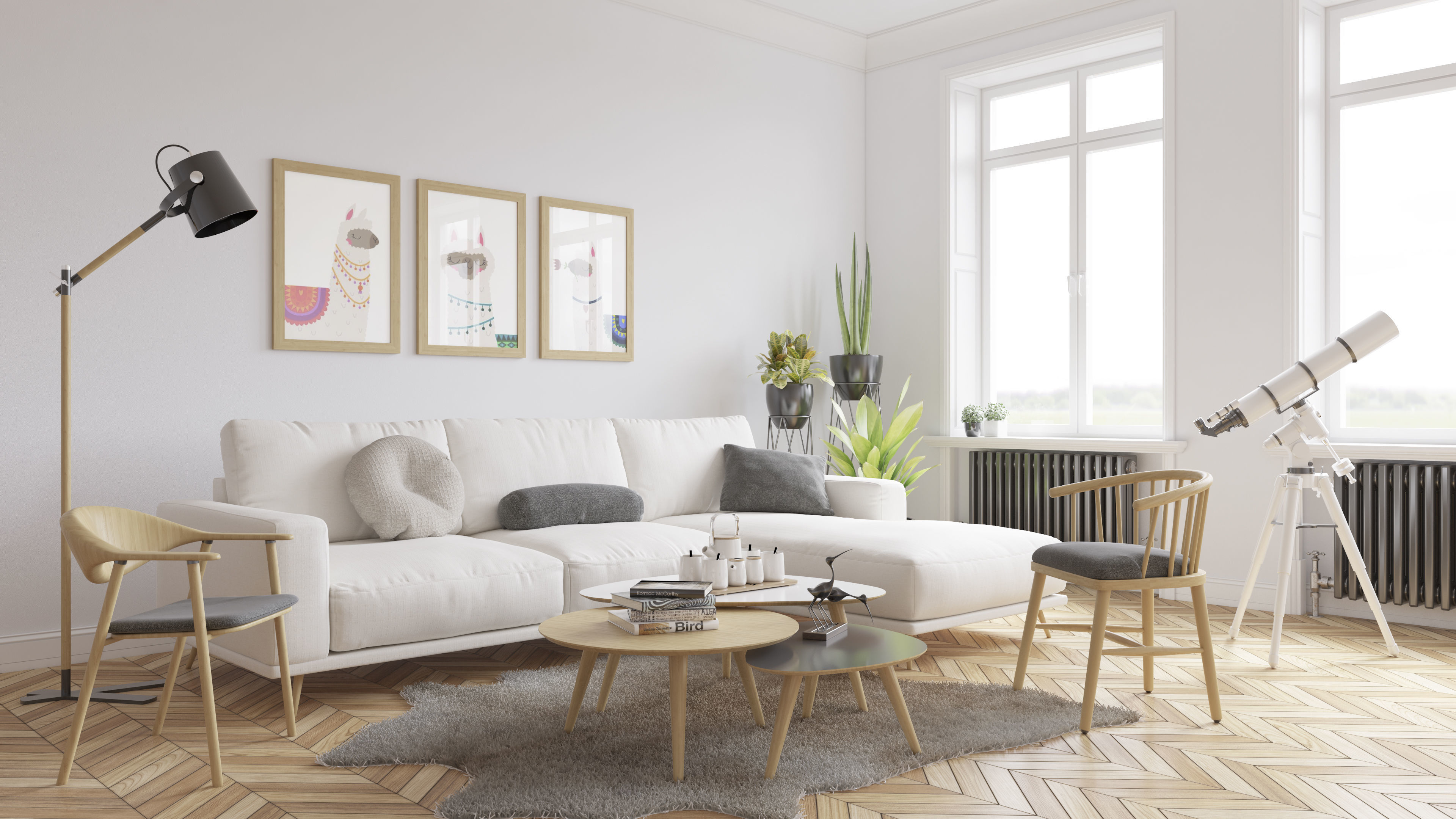 Game Ready Scandinavian Living Room 3d Model Vray 3