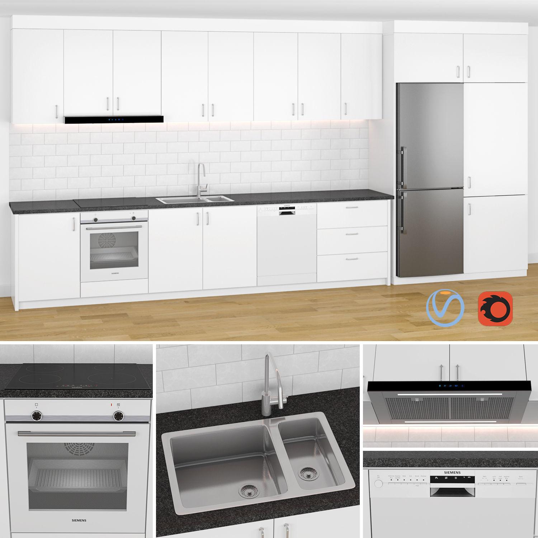 Modern Kitchen 1 3D model | CGTrader on Modern:8-Rtxafges8= Model Kitchen  id=60961
