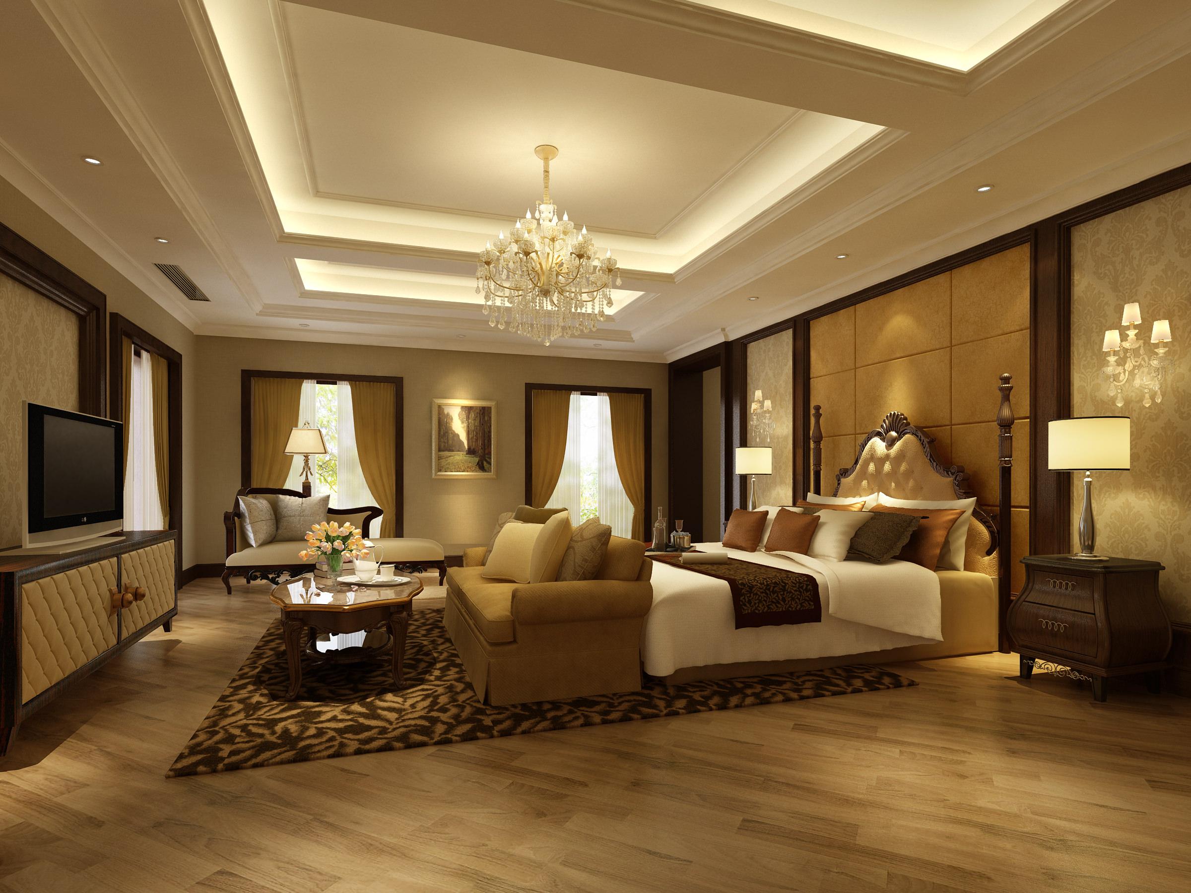 Bedroom or Hotel Room 3D Model MAX   CGTrader.com on New Model Bedroom  id=60635