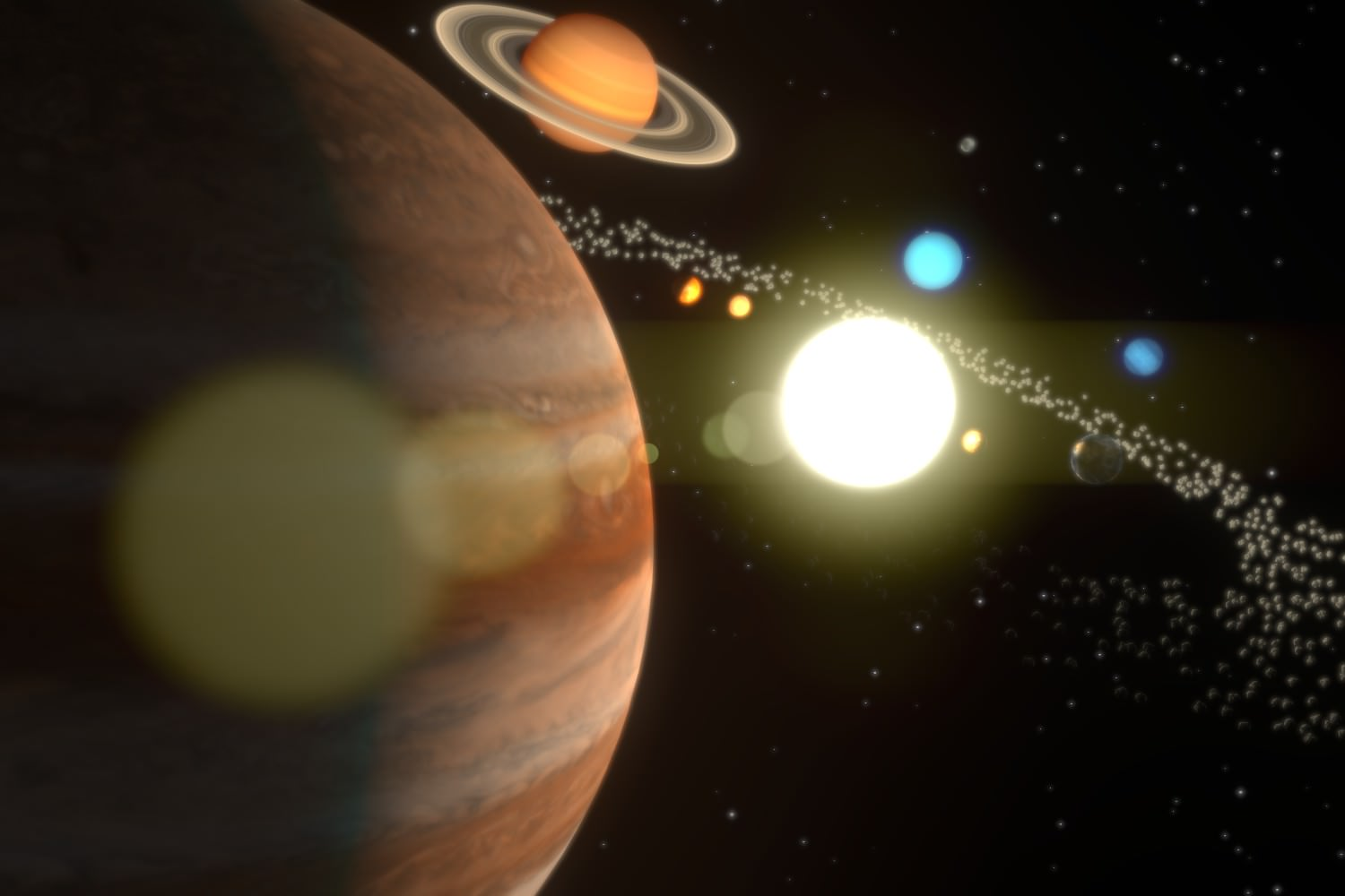 The Solar System 3D Model Animated Blend