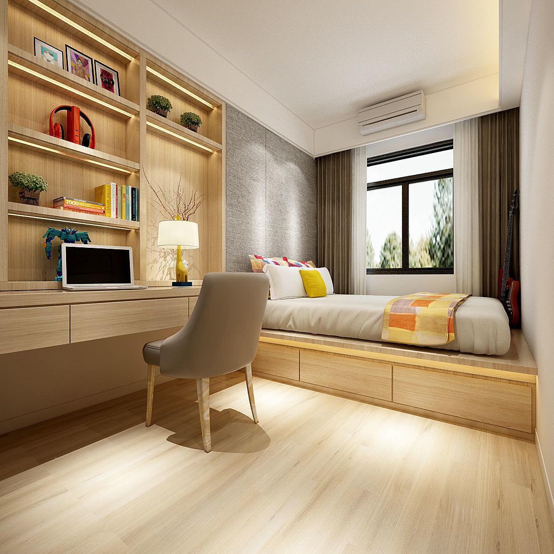 3D model Deluxe master bedroom design 35   CGTrader on New Model Bedroom Design  id=58555