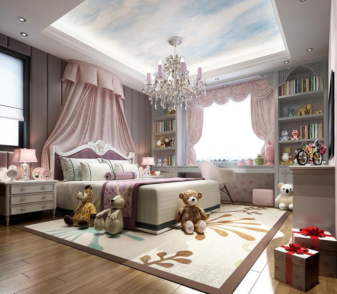 Deluxe master bedroom design 193 3D model   CGTrader on New Model Bedroom Design  id=49018