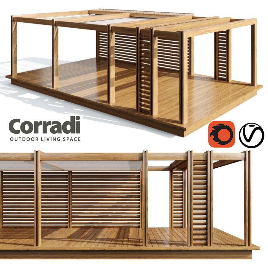 3D model Pegola Corradi outdoor living space wooden on Corradi Outdoor Living id=58403
