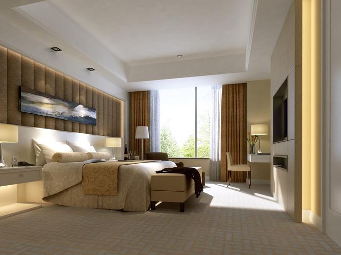 hotel-room Bedroom 3D model   CGTrader on New Model Bedroom  id=37693