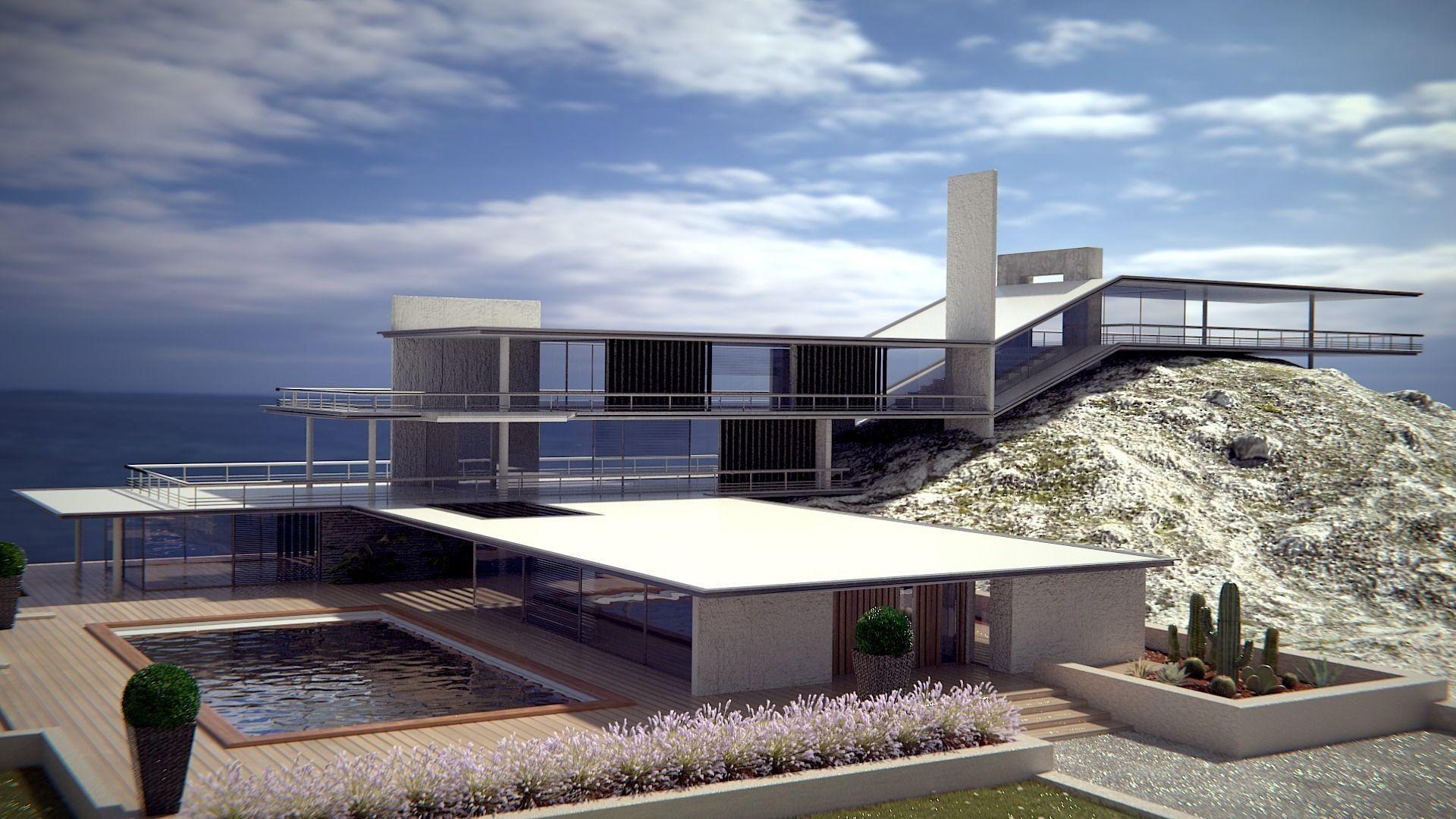 Best Kitchen Gallery: Modern Style Original Sea House 3d Cgtrader of Modern Style House on rachelxblog.com