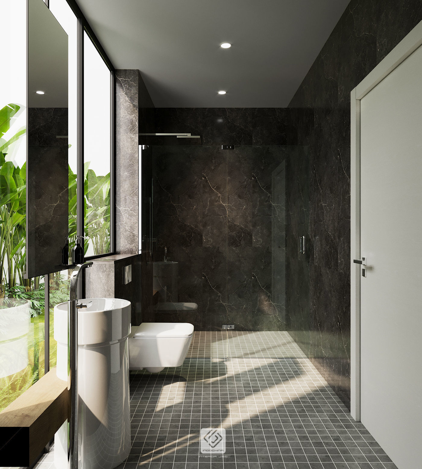 3D Bathroom modern tropical   CGTrader on Model Bathroom  id=22622