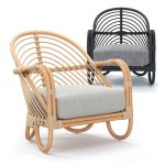 3d Model Crate And Barrel Etta Rattan Chairs Cgtrader