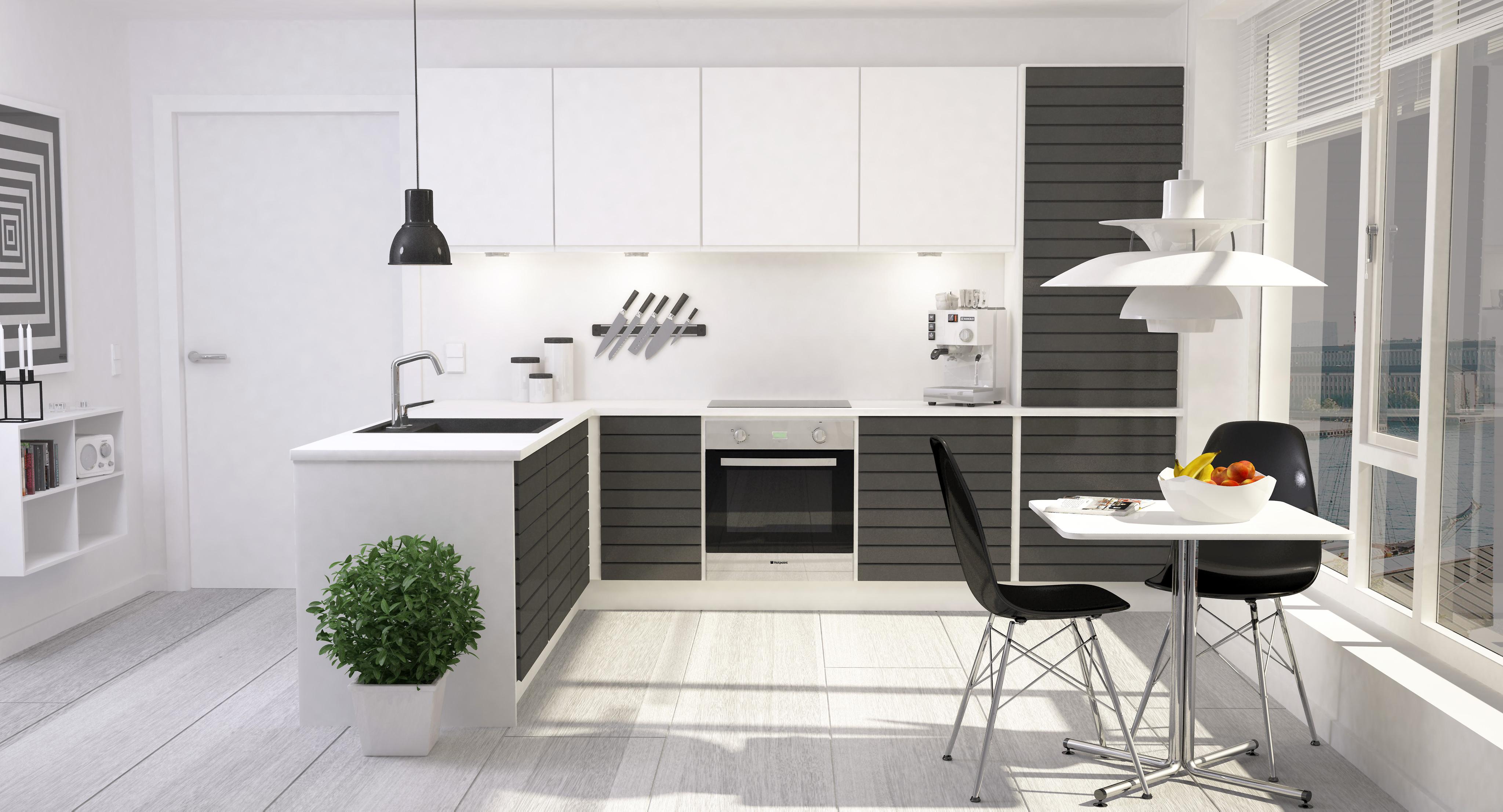 Modern Kitchen Interior 001 3D Model .max .obj .fbx .dxf ... on Model Kitchen Design  id=64929