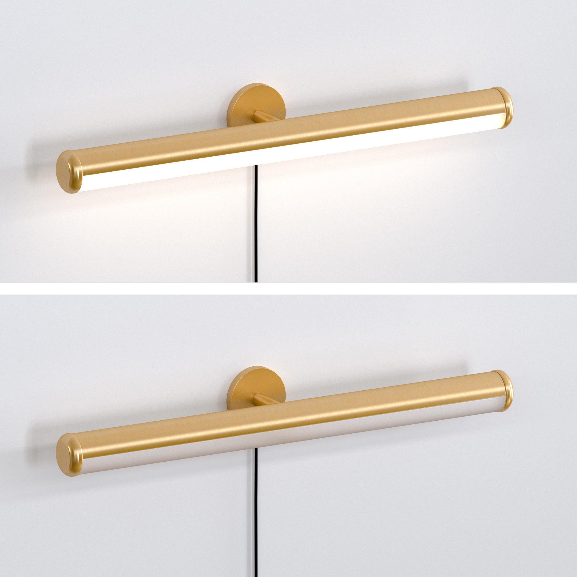 west elm light rods led art sconce 3d model
