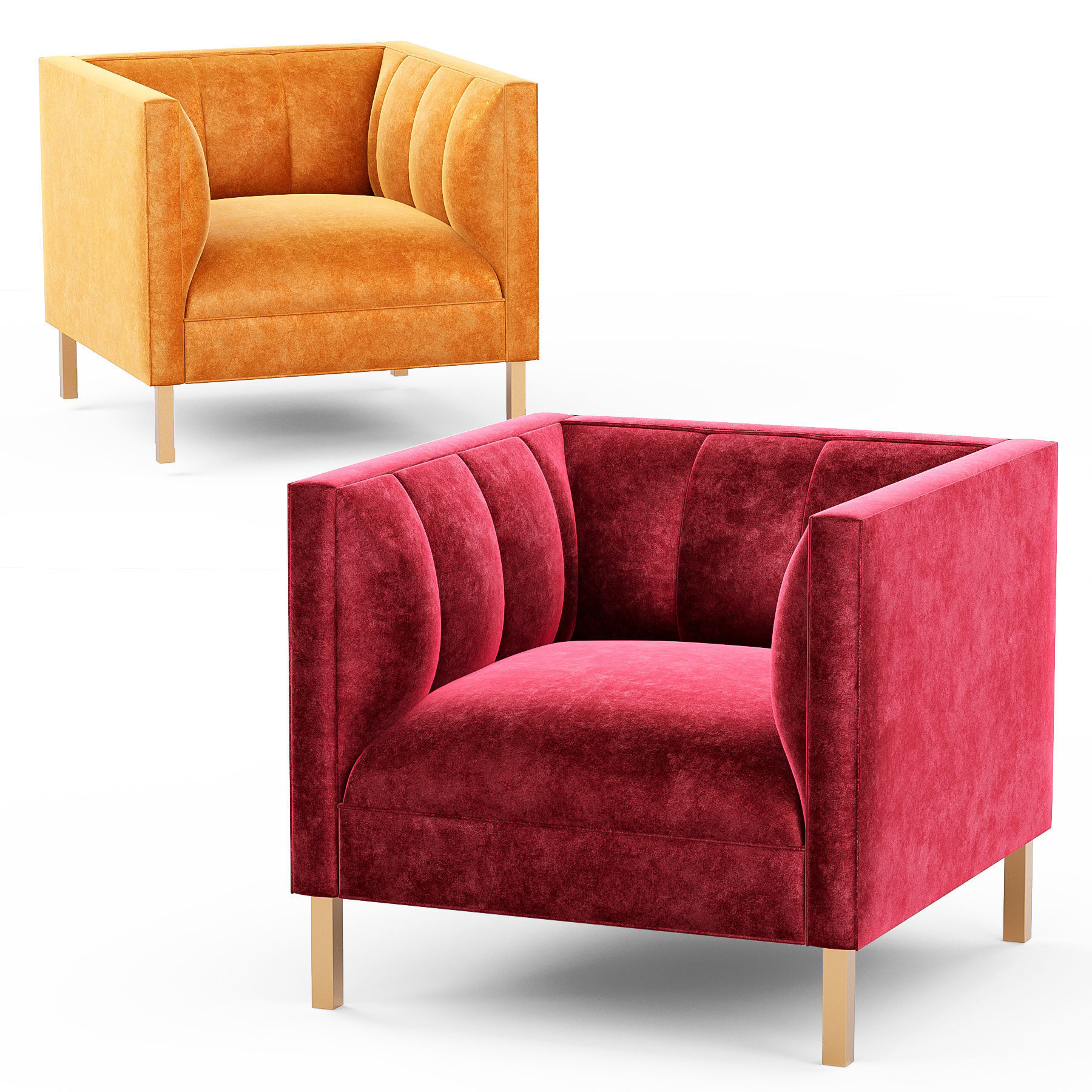 3d Model Crate And Barrel Chloe Chair Cgtrader