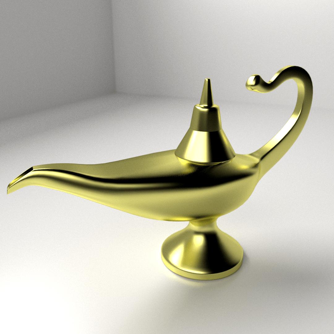 Magic Lamp 3D Model 3ds Fbx Blend Dae