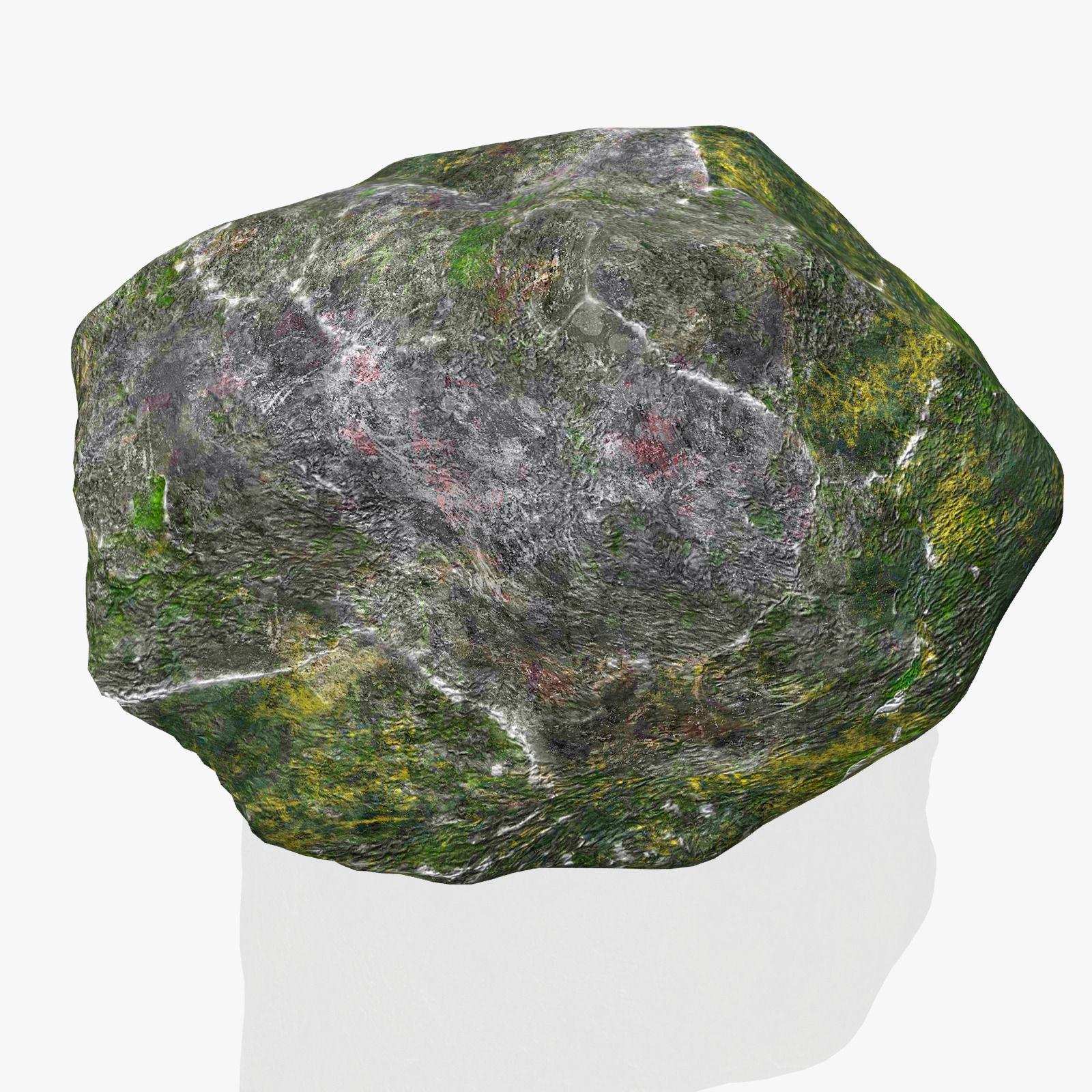3D model Rock Stone 2 VR / AR / low-poly MAX OBJ 3DS FBX ... on Granite Models  id=63958