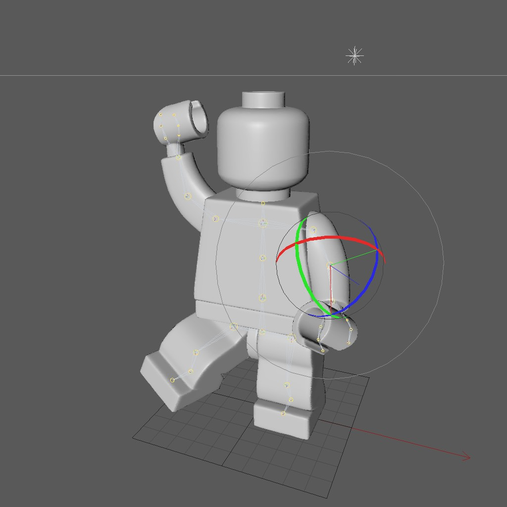 Lego Rigged Minifigure 3D Model Game Ready Rigged C4d