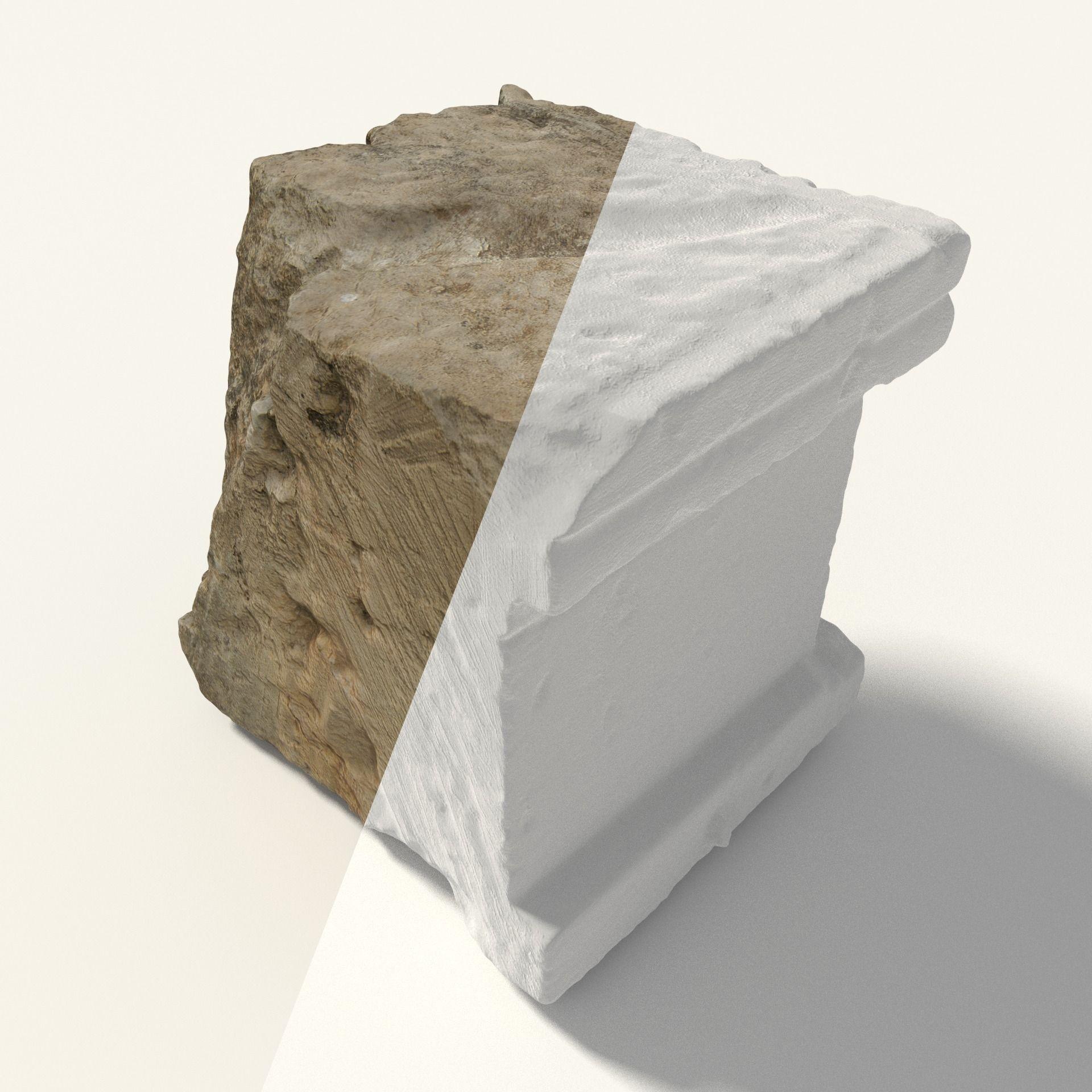 Scanned Cubic Stone 3D Model Game ready .obj .3ds .fbx ... on Granite Models  id=12052