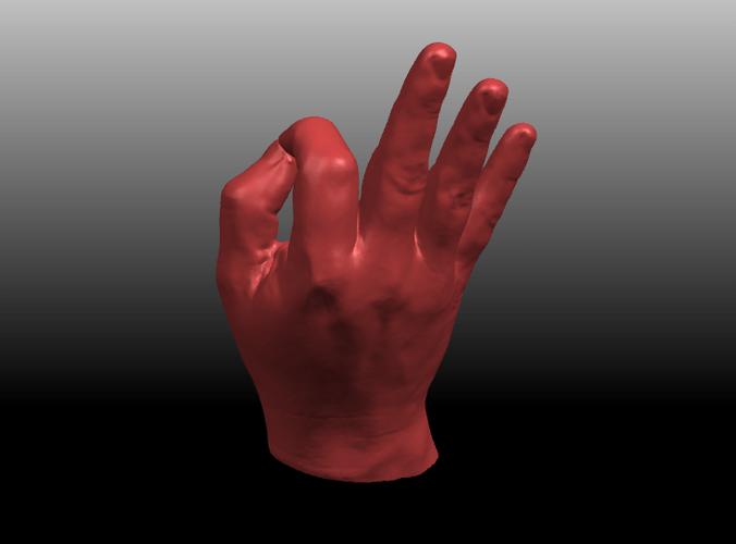 Hand In OK Sign Free 3D Model 3D Printable Stl