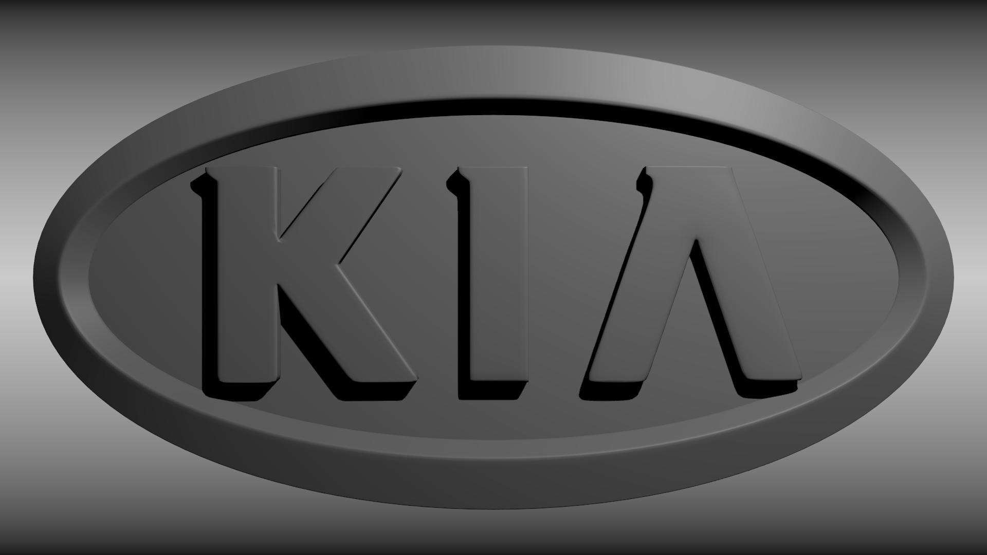 KIA Logo 3D Model Obj Blend