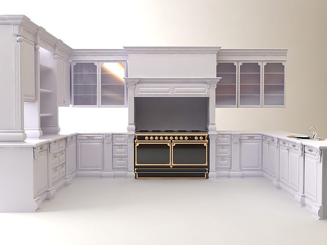 Kitchen Cabinets Appliances 3D   CGTrader on Kitchen Model Images  id=11197