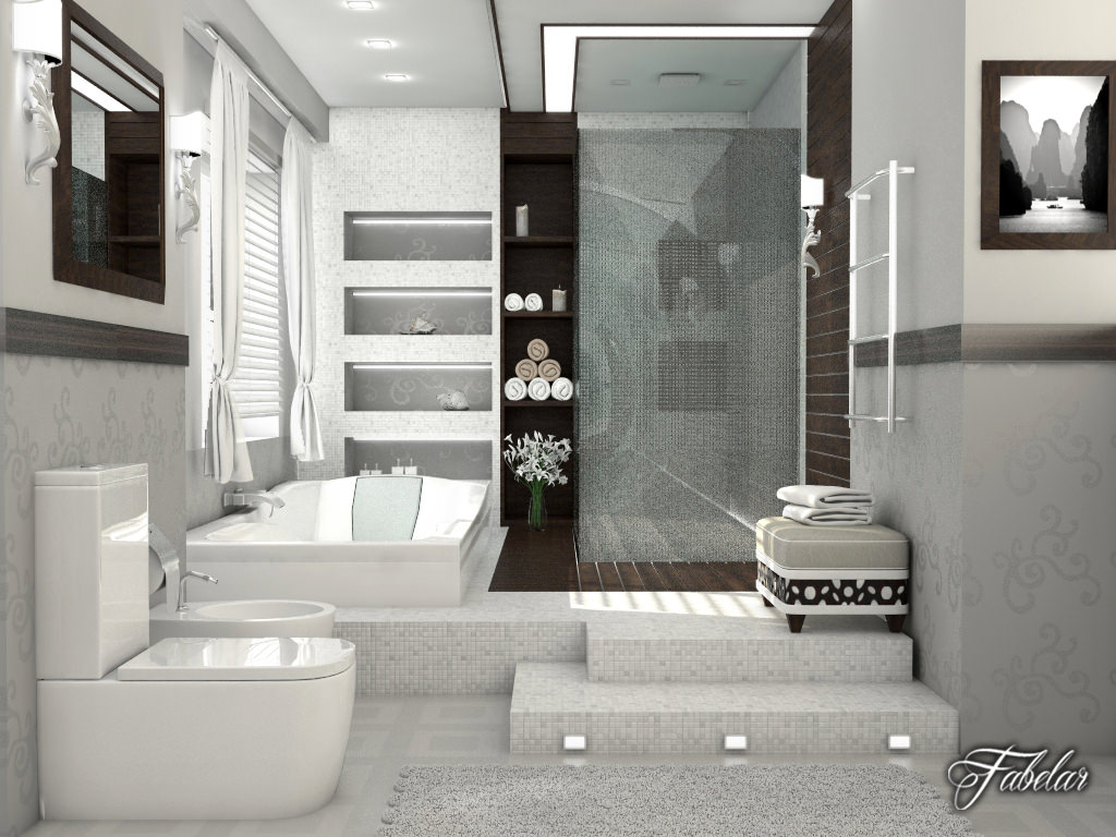 Bathroom collection 1 3D Model MAX OBJ 3DS C4D DAE ... on Bathroom Models  id=28499