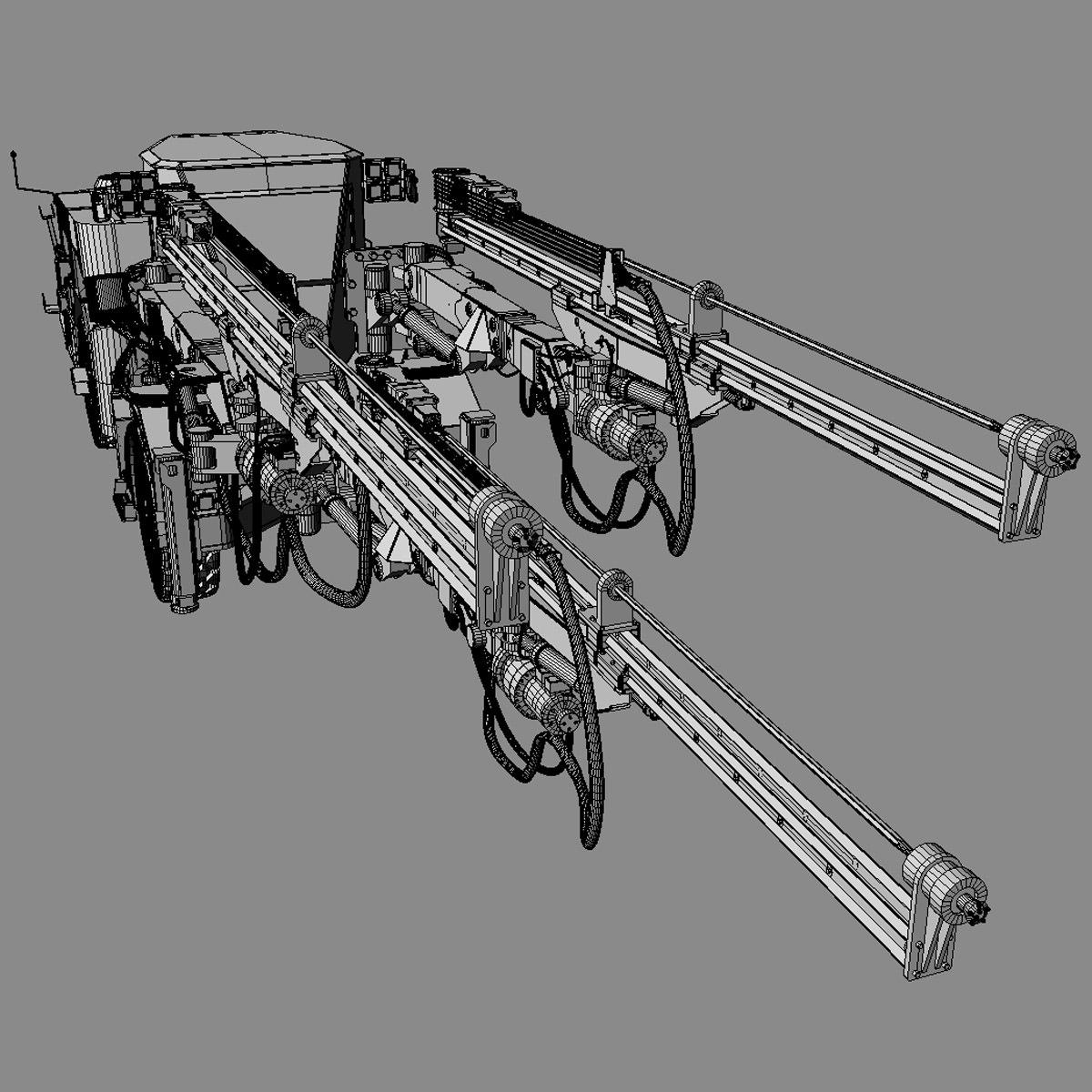 Sandvik Dd530 Mining Jumbo 3d Model Max Obj 3ds Fbx Lwo Lw