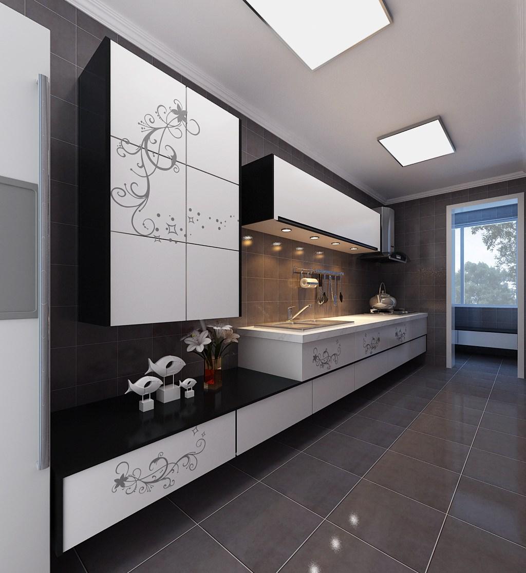 Modern Kitchen 3D Model .max - CGTrader.com on Modern Model Kitchen  id=64439