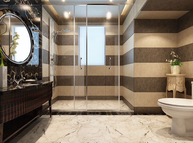 Collection Modern Bathroom Fully Furnished Collection 3D ... on Model Toilet Design  id=80318