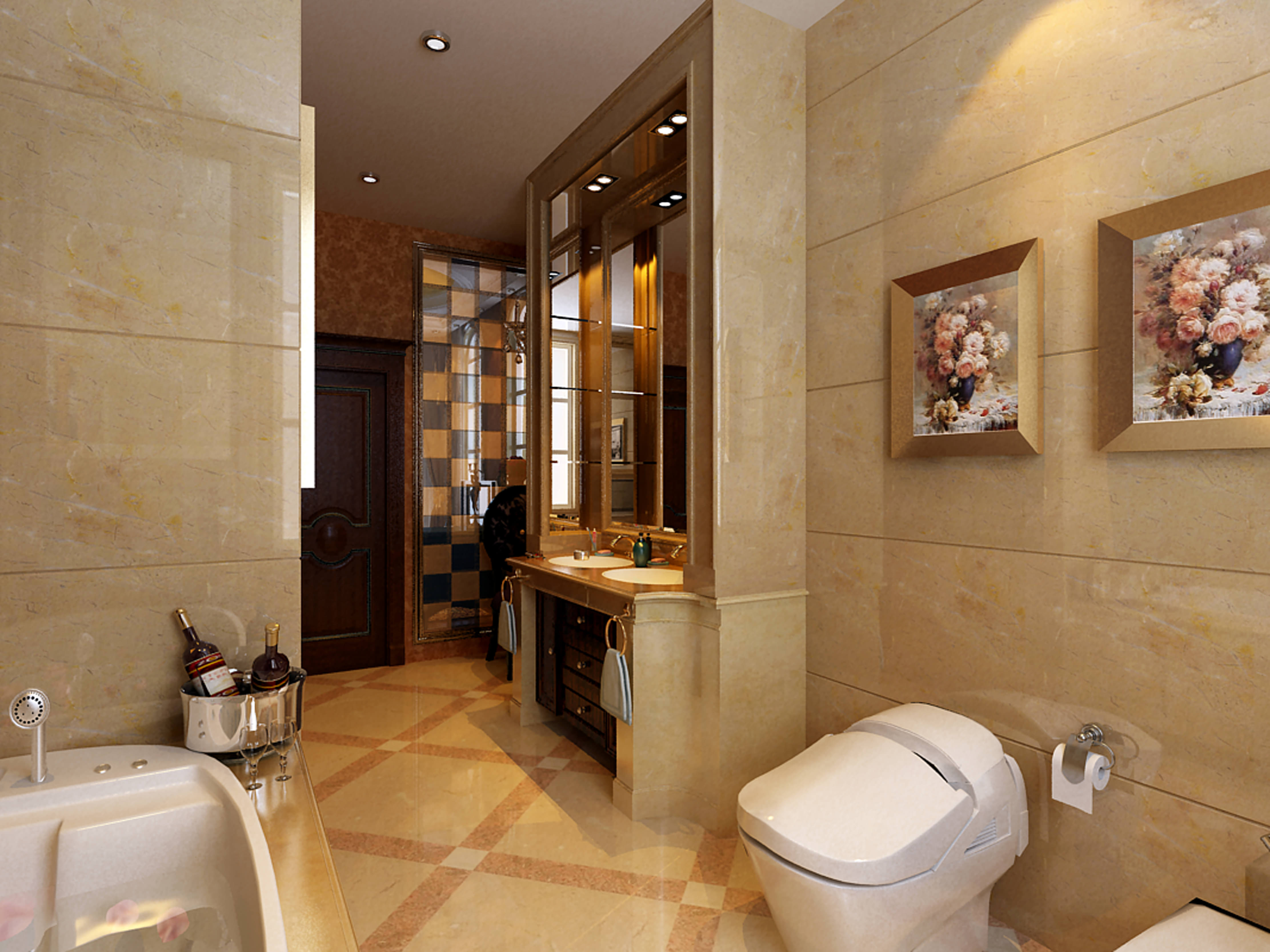 Collection Modern Bathroom Fully Furnished... 3D Model ... on Model Bathroom  id=38137