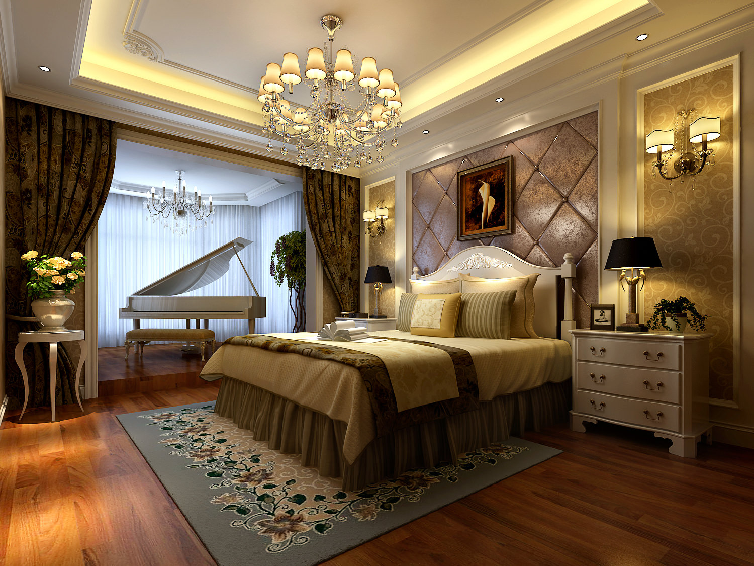 Collection Modern Bedroom Fully Furnished Collection 3D ... on New Model Bedroom Design  id=23920