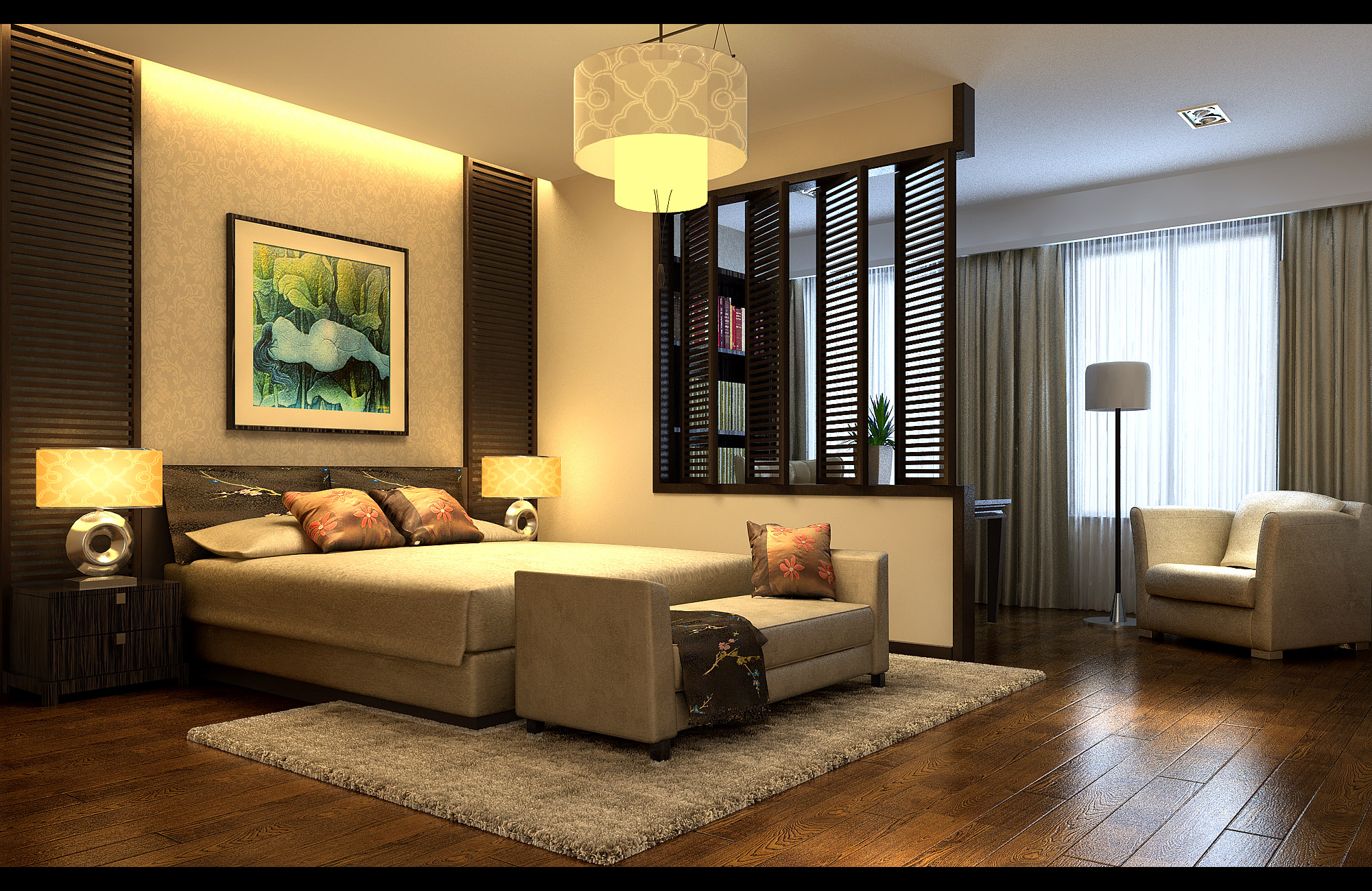 Collection Modern Bedroom Fully Furnished ... 3D Model ... on Model Bedroom Ideas  id=42414