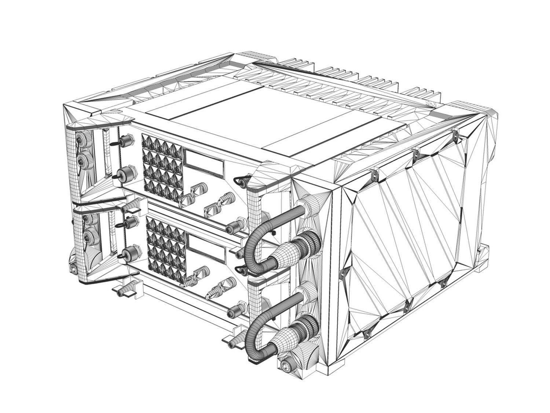 Uhf Vhf Military Radio System 3d Model Obj 3ds Fbx C4d