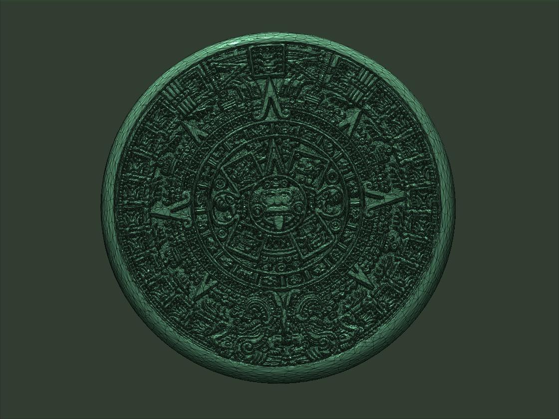Aztec Calendar 3d Model 3d Printable Obj Stl Ztl