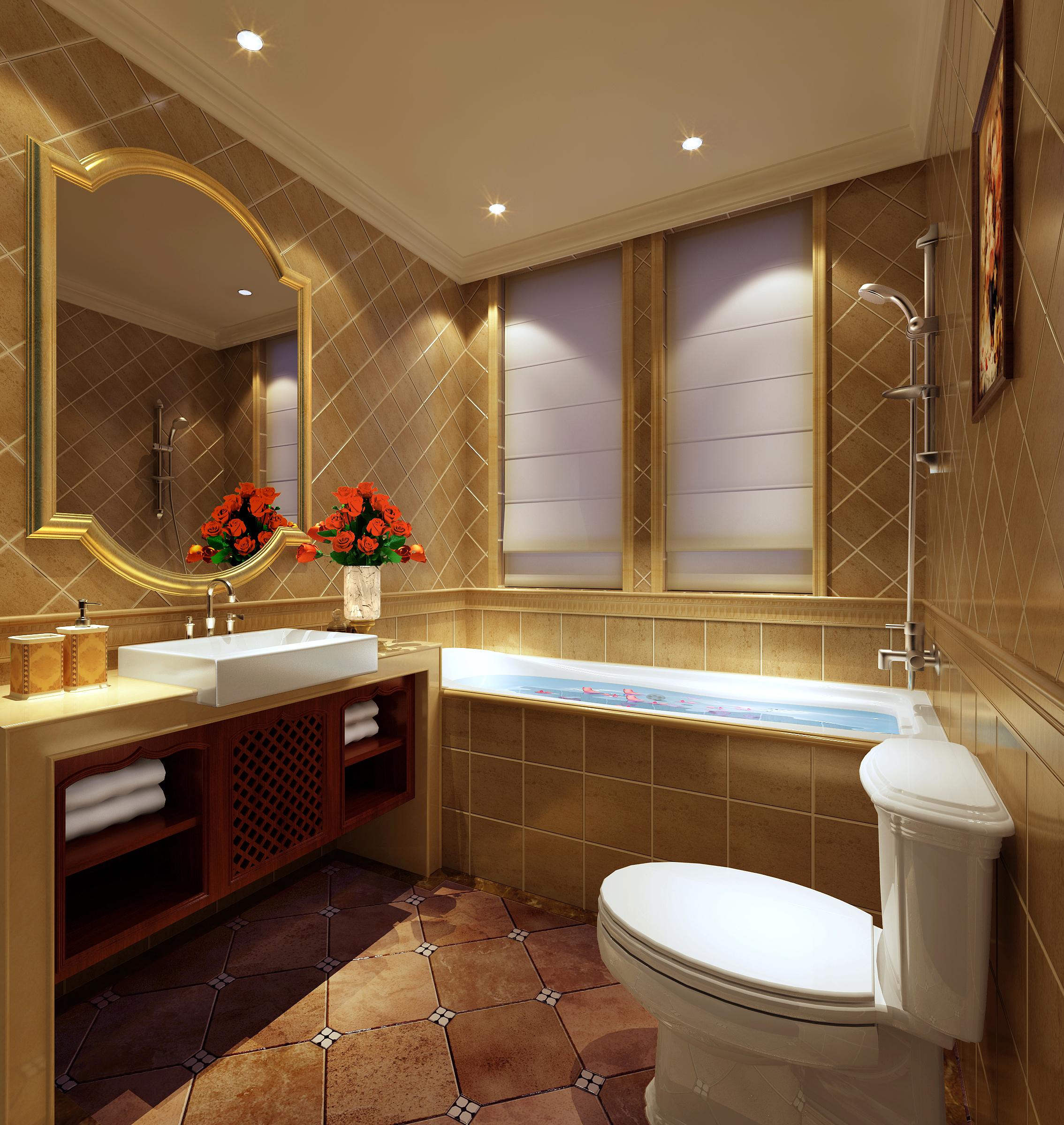Classic Bathroom 3D Model .max - CGTrader.com on Bathroom Model Design  id=53253