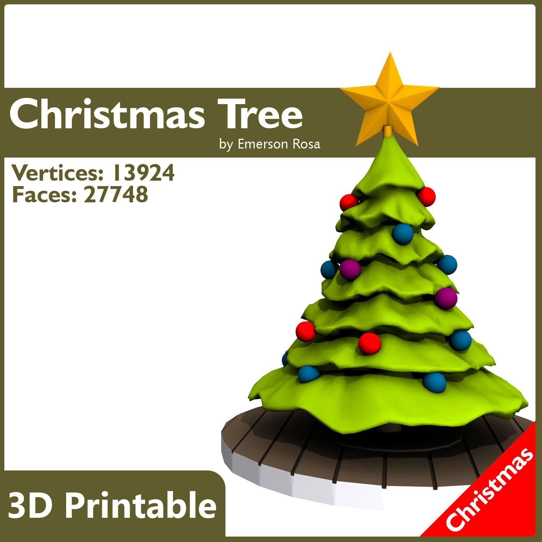 Christmas Tree 3d Model 3d Printable X Obj Fbx L