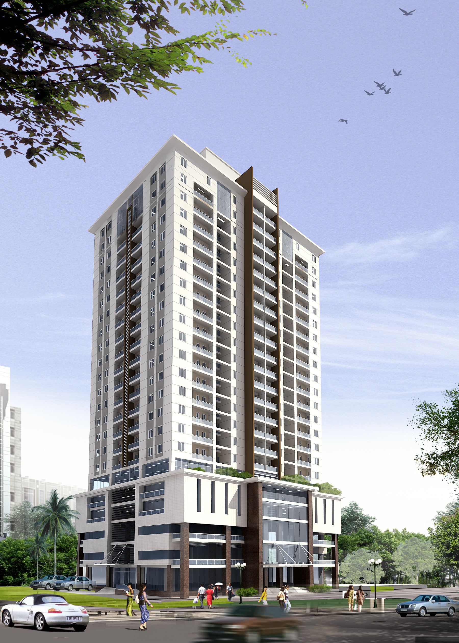 3d Models Detailed High Rise Building Cgtrader
