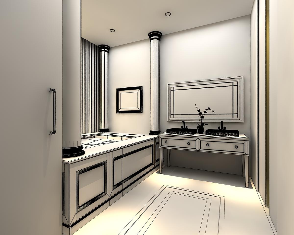 3D Models Photoreal Bathroom 3D Model .max - CGTrader.com on Bathroom Model  id=76602