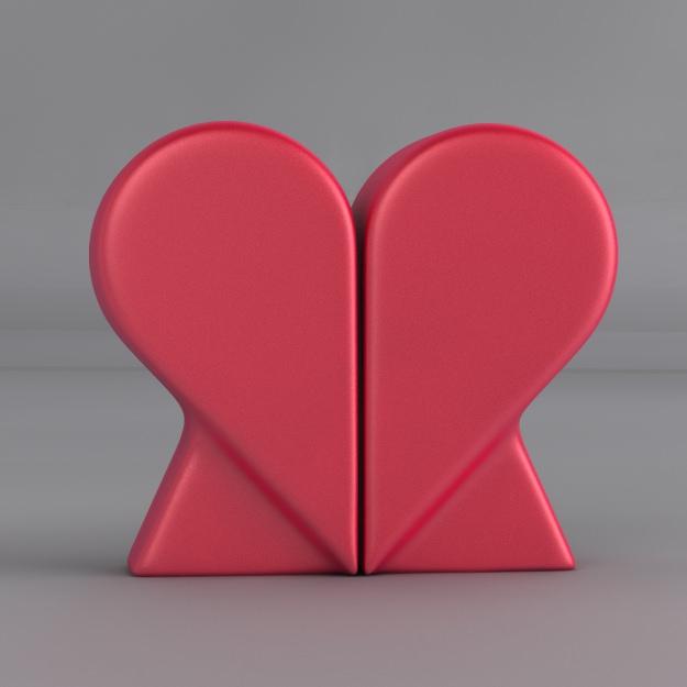 Heart Salt And Pepper Shakers Free 3D Model 3D Printable