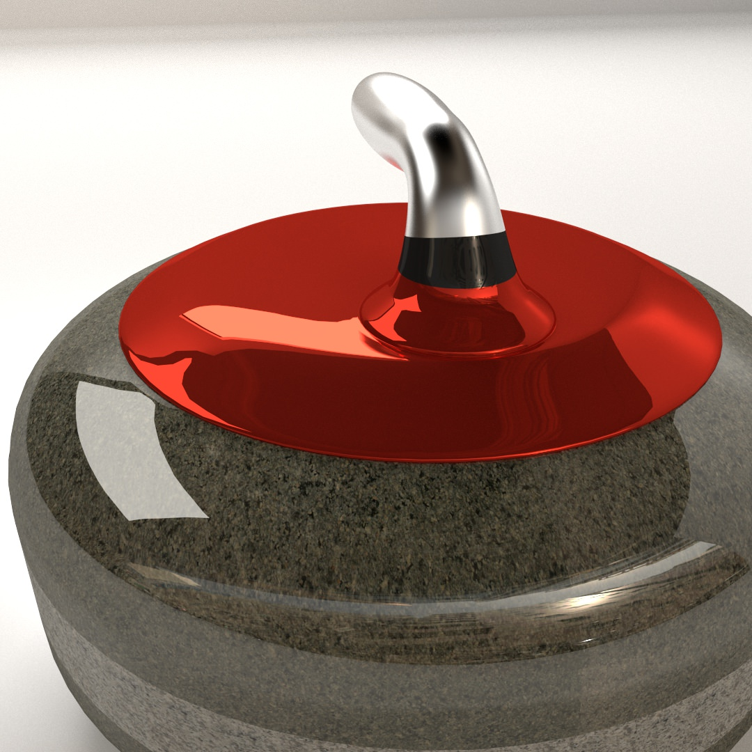 Curling Stone 3D Model .3ds .fbx .blend .dae - CGTrader.com on Granite Models  id=15674