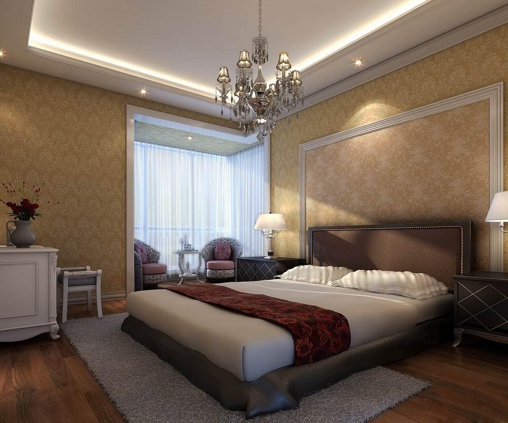 Modern Design Fully Furnished Bedroom 3D Model .max ... on New Model Bedroom Design  id=12315