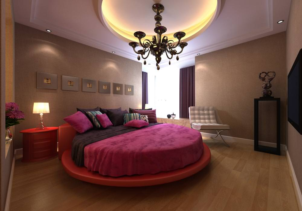 Modern Bedroom Interior with Round Bed 3D Model .max ... on New Model Bedroom  id=41179
