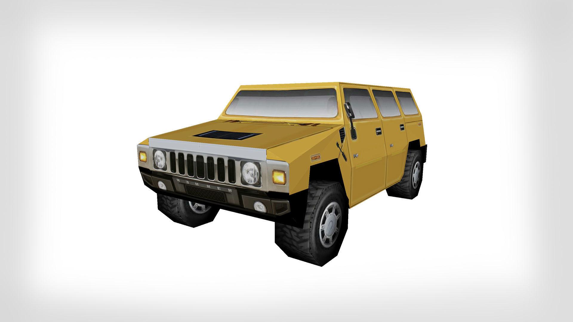 3D model game ready Hummer Car