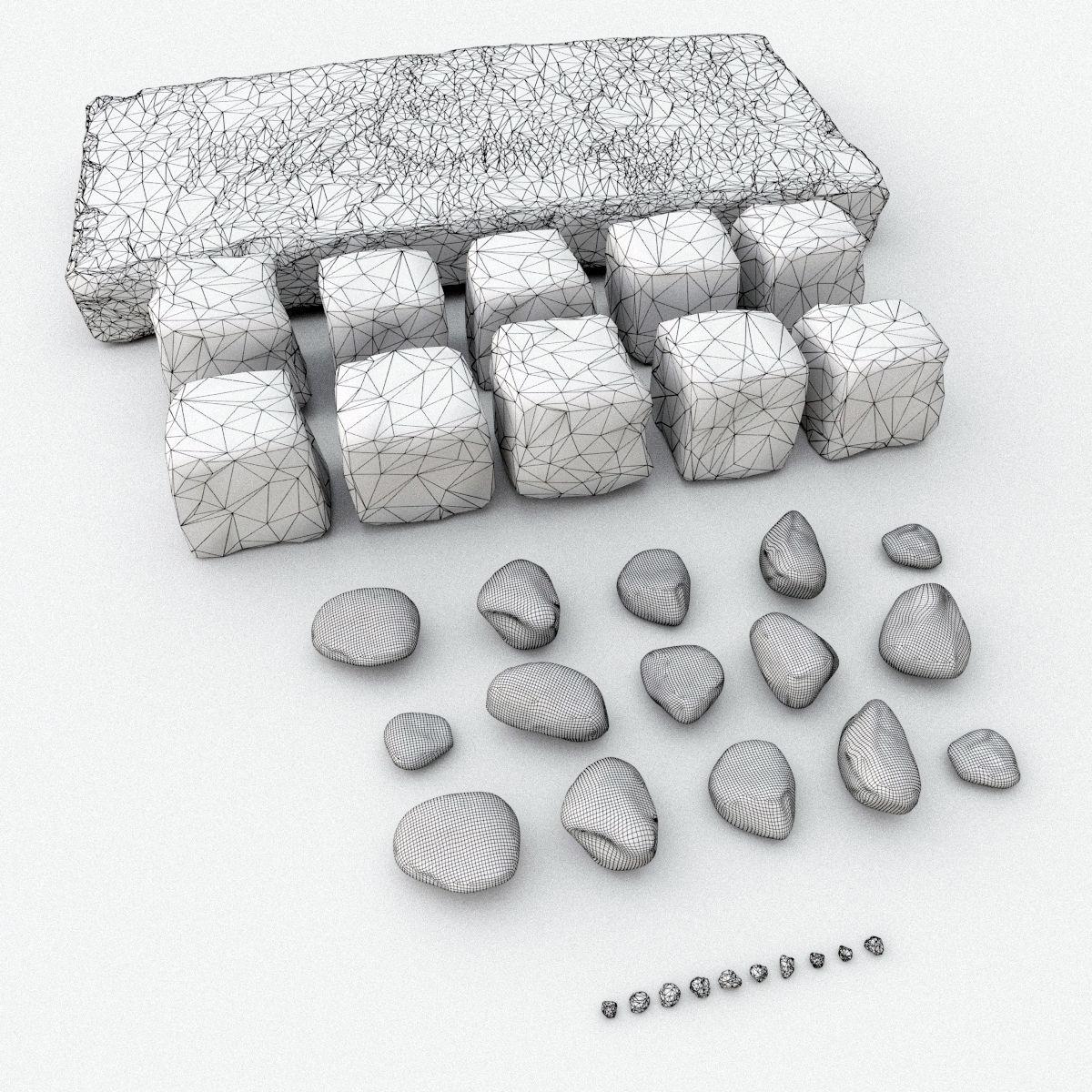 Stone set 3D Model MAX OBJ FBX MTL MAT | CGTrader.com on Granite Models  id=49682