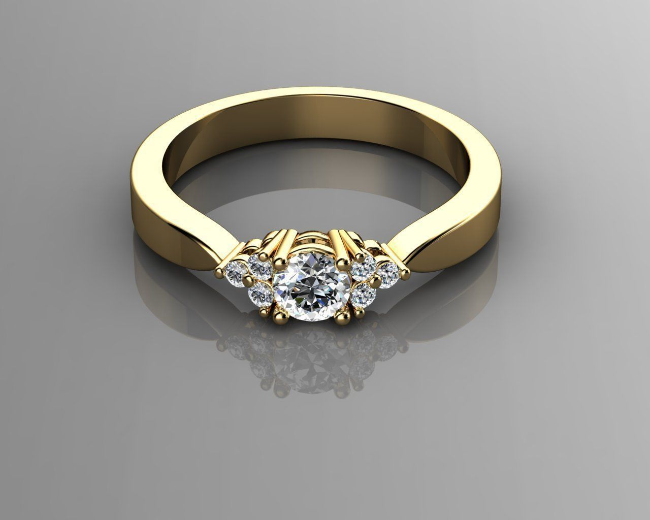 Engagement Rings 3D Model 3D Printable STL 3DM