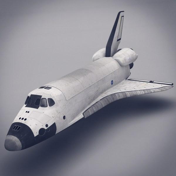 Space Shuttle 3D Model MAX OBJ FBX LWO LW LWS MA MB