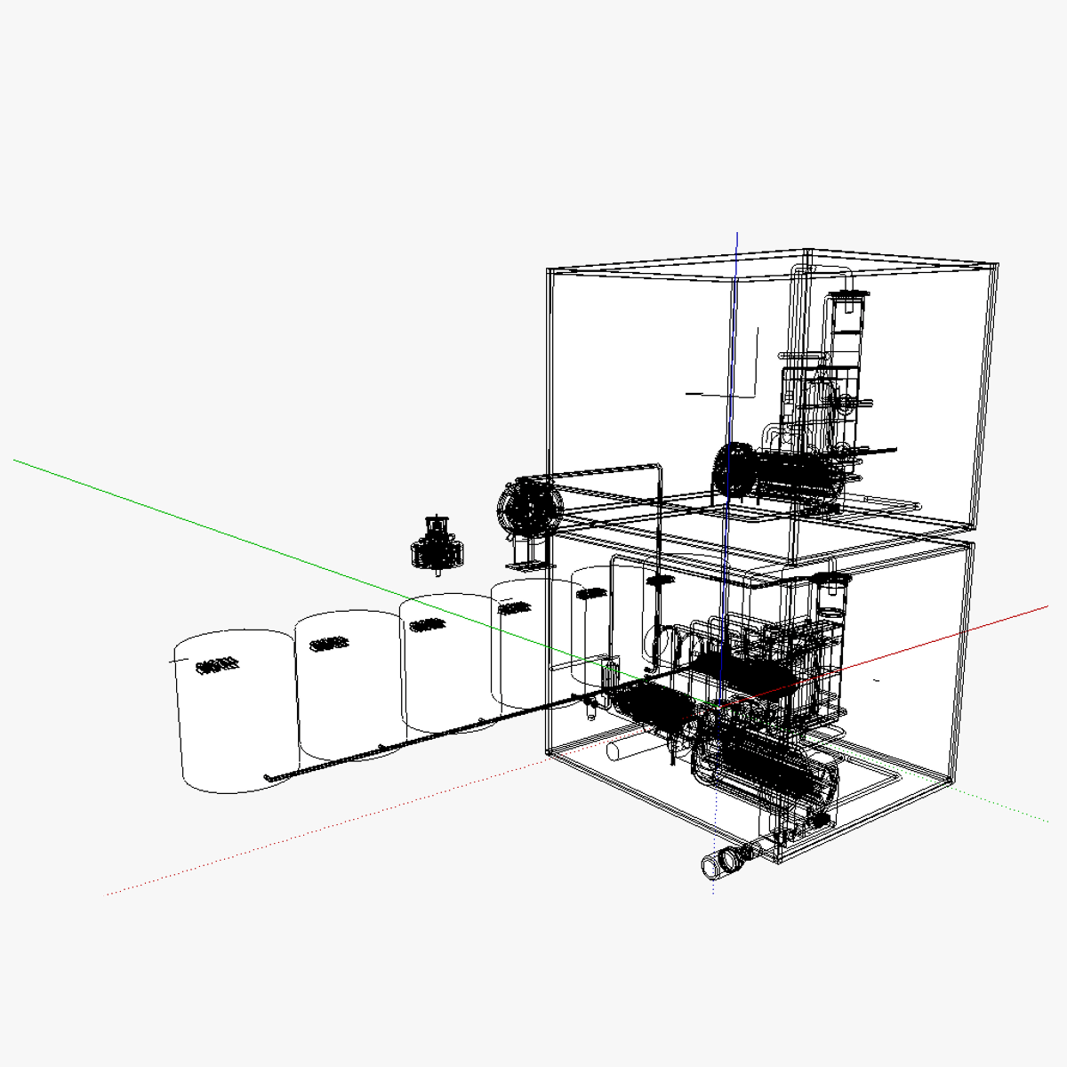 Compressed Air Energy And Use System Caes 3d Model